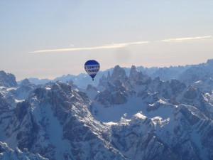 Ballonfahrt in den Dolomiten